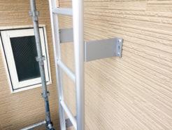 外壁と点検タラップの改修