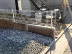 リペア(修復)後の塀
