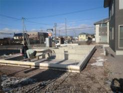 住宅の基礎コンクリート工事